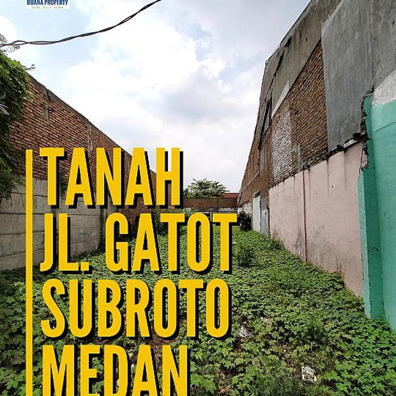 Tanah-SHM-Pinggir Jalan Gatot Subroto Medan-Depan Lotte  Mart