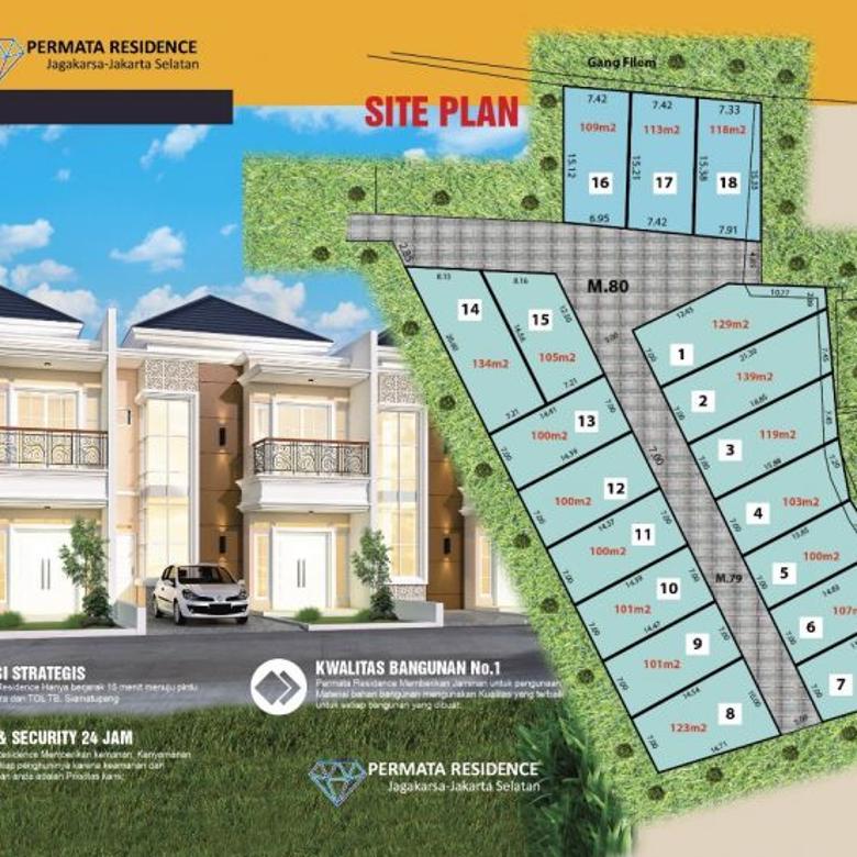 Dijual Murah Tanah Kavling Cluster Permata Residence Jagakarsa