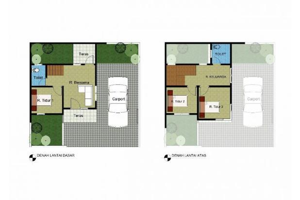 Rumah baru 2 lantai strategis di Cijaura Buah batu Bandung 22022726