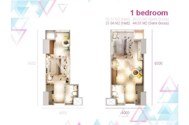 Dijual Apartemen Baru 1BR Murah Nyaman di Skandinavia TangCity Tangerang 13134906