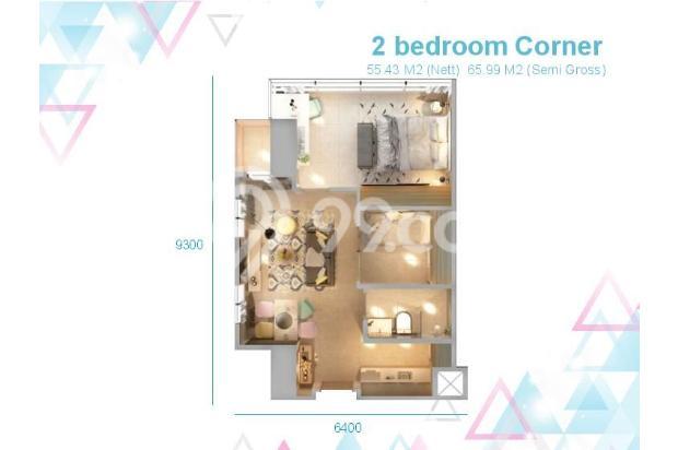 Dijual Apartemen Baru 1BR Murah Nyaman di Skandinavia TangCity Tangerang 13134921