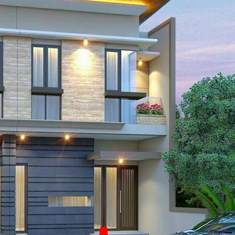 Rumah gress modern minimalis di Wisata Bukit Mas Surabaya