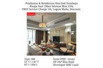 Dijual Apartemen One East Residence Surabaya start 2Man Mewah