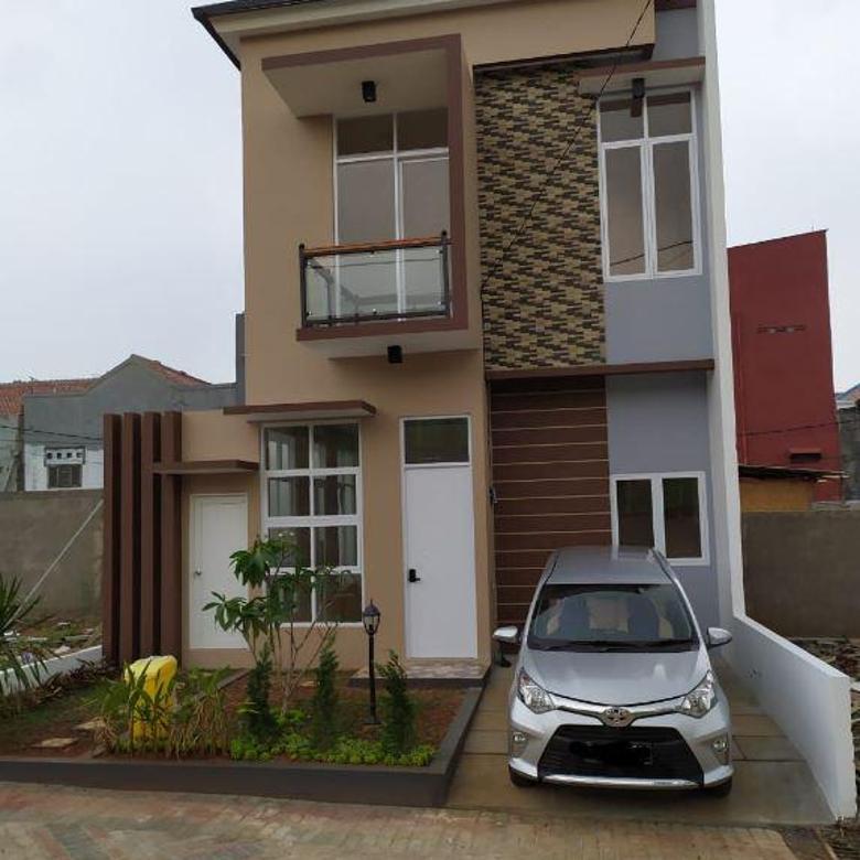 Rumah 2 Lantai dengan Kolam Renang Cibubur Skema KPR Tanpa Bank