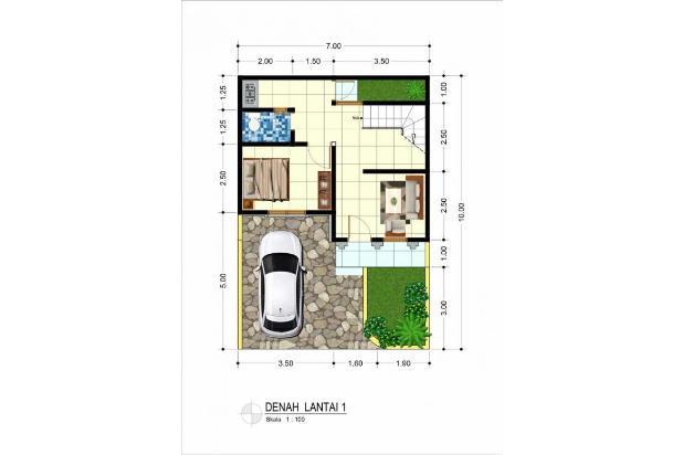 Rumah Baru dijual dalam cluster di Griya Rosela 3,Pondok Cabe, Tangsel 16317720