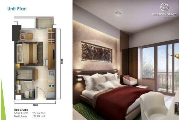 Rp544jt Apartemen Dijual