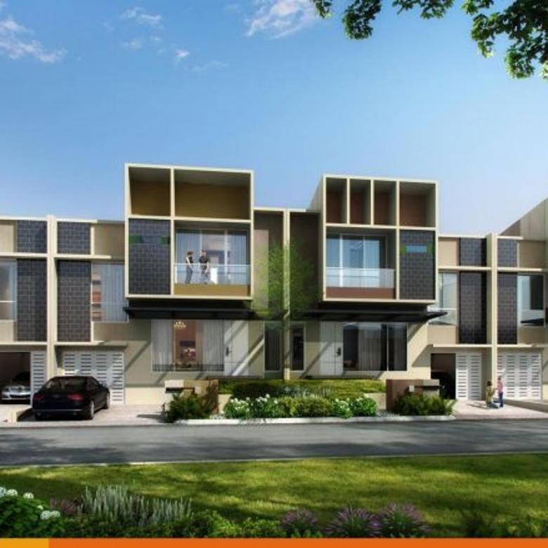 rumah modern di cluster mozart, gading serpong