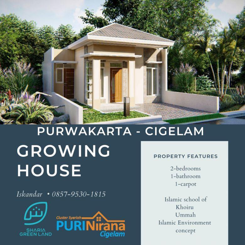 Growing House Rumah Tumbuh Puri Nirana Cigelam, Purwakarta