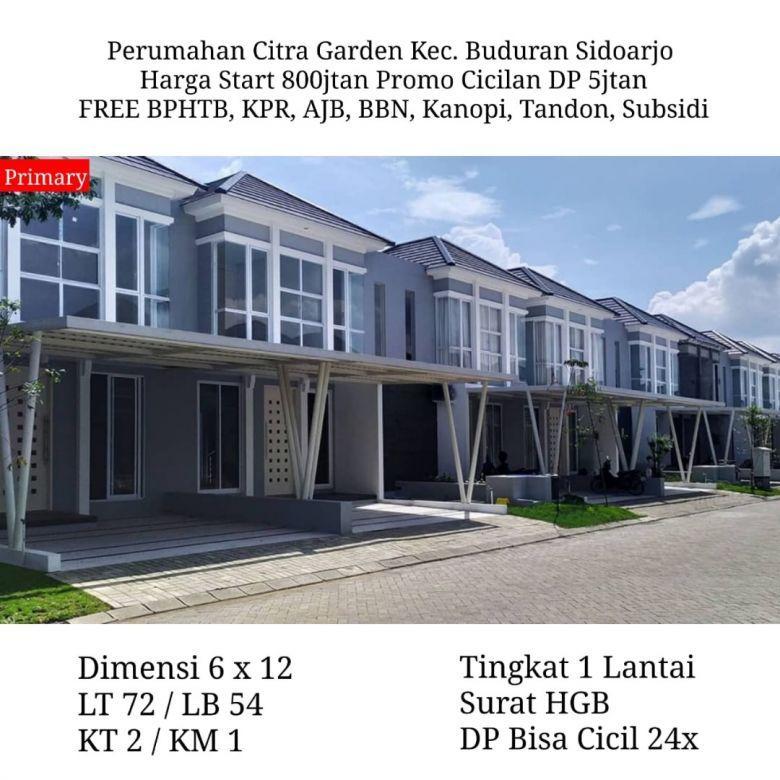 rumah citra garden sidoarjo murah free biaya strategis