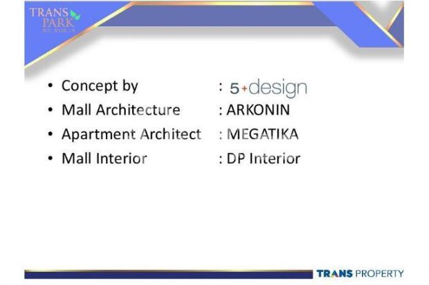 Dijual Apartemen 1BR Nyaman Strategis di Trans Park Cibubur Depok 13024181
