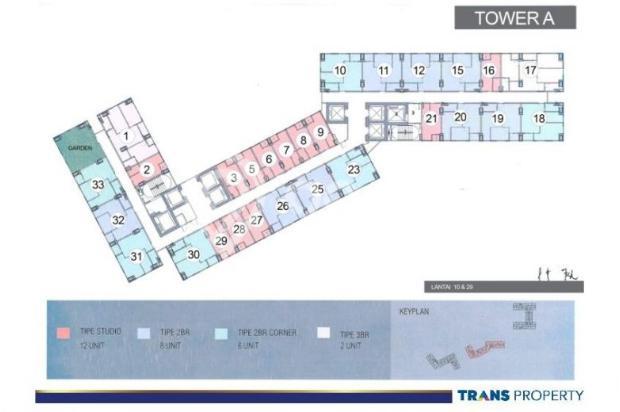 Dijual Apartemen 1BR Nyaman Strategis di Trans Park Cibubur Depok 13024201