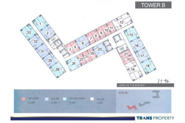 Dijual Apartemen 1BR Nyaman Strategis di Trans Park Cibubur Depok 13024203