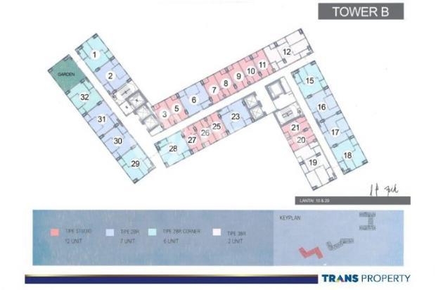 Dijual Apartemen 1BR Nyaman Strategis di Trans Park Cibubur Depok 13024205