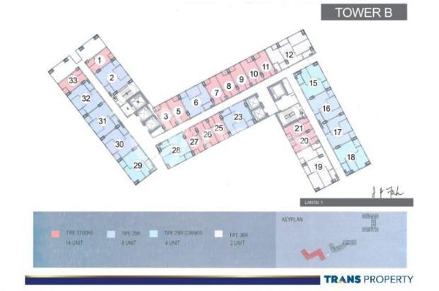 Dijual Apartemen 1BR Nyaman Strategis di Trans Park Cibubur Depok 13024204