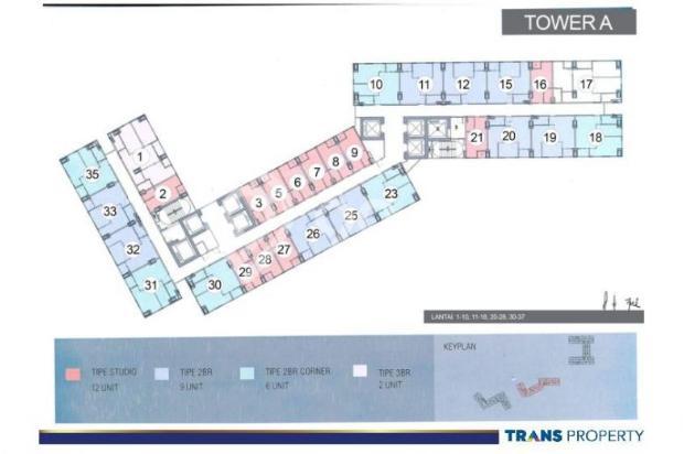 Dijual Apartemen 1BR Nyaman Strategis di Trans Park Cibubur Depok 13024208