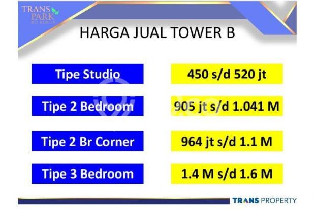 Dijual Apartemen 1BR Nyaman Strategis di Trans Park Cibubur Depok 13024229