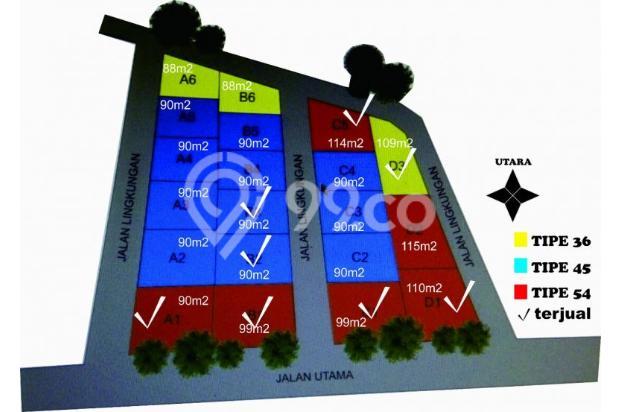 rumah cluster siap bangun jogja, 7 menit ke UMY 15895743