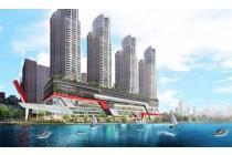 dijual condominium greenbay 2 kamar murah 1m only konsep marinabay hdp laut
