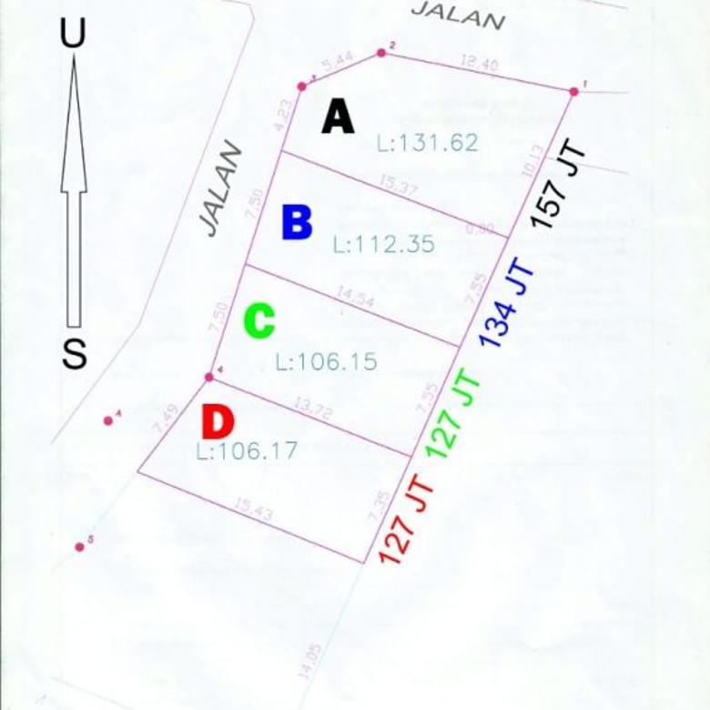 Dijual Tanah Kavling Dekat Jln Aspal di Trimurti Srandakan