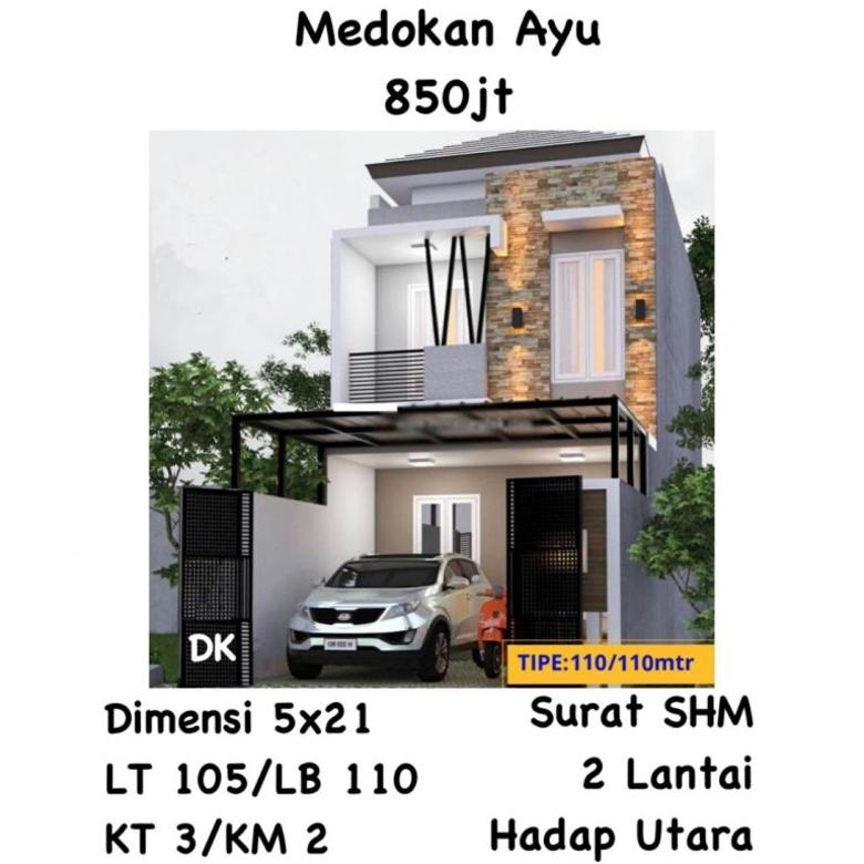 Rumah Medokan Ayu Rungkut Surabaya Timur Murah Baru