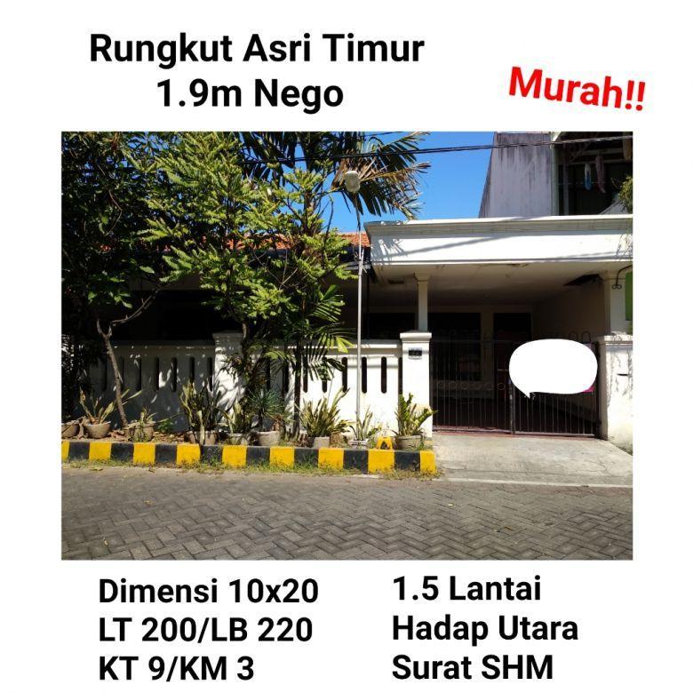 Rumah Rungkut Asri Timur Kec Rungkut Surabaya Timur KPR