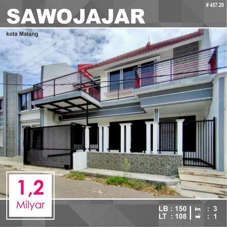 Rumah 2 Lantai Luas 108 di Maninjau Sawojajar 1 kota Malang _ 457.20