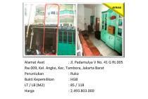 Aset Sitaan Ruko di Angke Tambora Jakarta Barat