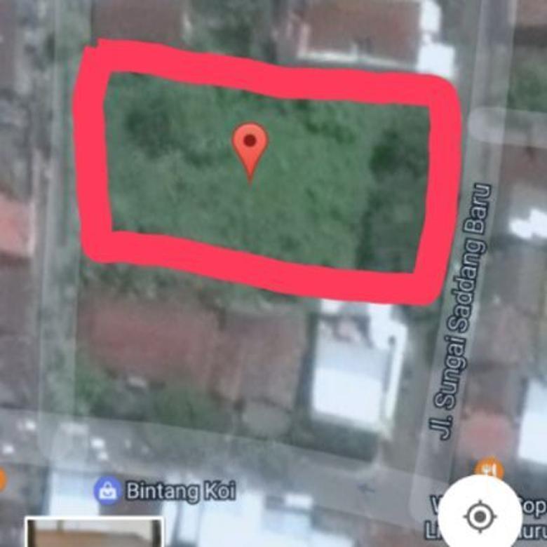 Jual cepat tanah luas 3504 m2 tengah kota jl. sungai saddang baru