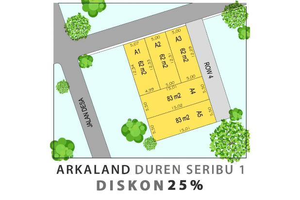 Rp118jt Tanah Dijual
