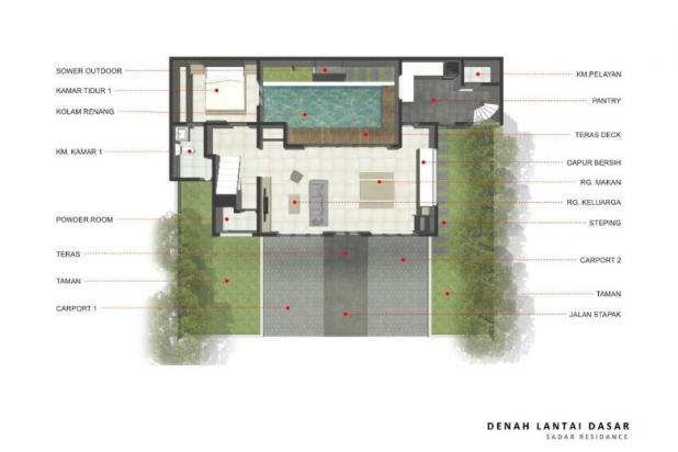 rumah baru 2 lantai tanah 195 bangunan 180 s pool di bawah