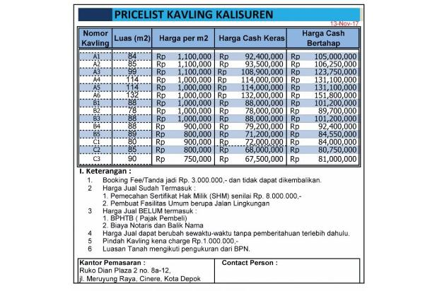 Bayar Tanah Bertahap, 12 Kali, Tanpa Bunga: Bogor 14417101
