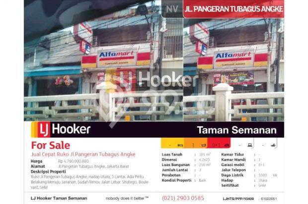 Ruko Jl.Pangeran Tubagus Angke, Jakarta Barat, 4.2x25m, 3 Lt 6153005