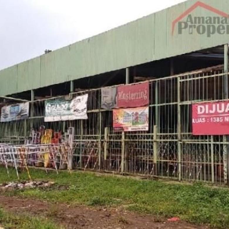 Dijual Tanah Plus Gudang Furniture di Raya Jakarta Bogor