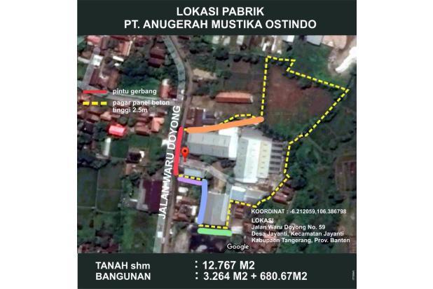 Dijual Pabrik & Office Strategis di Jl Waru Doyong  Jayanti Tangerang 14416877