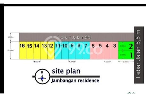 rumah surabaya pusat jambangan selatan strategis 570 juta 15424252