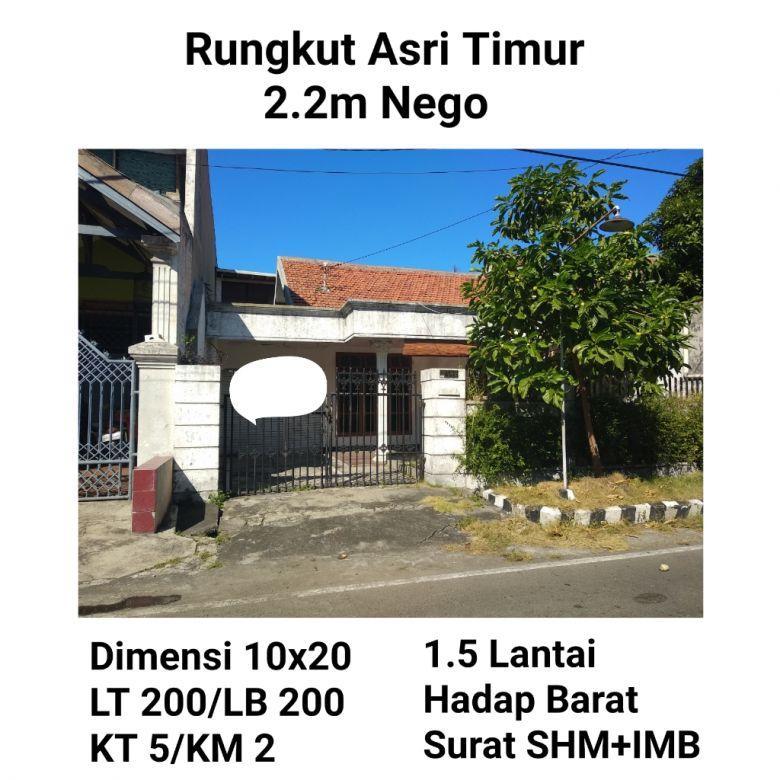 Rumah Rungkut Asri timur surabaya timur murah dekat transmart