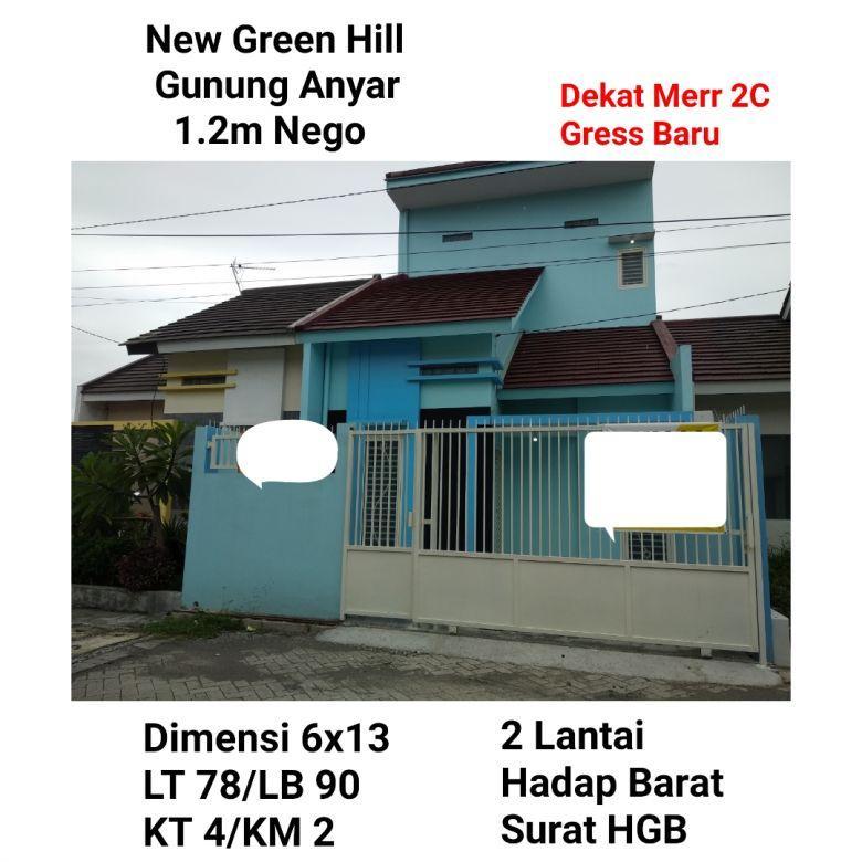 rumah new green hill gunung anyar baru murah siap huni