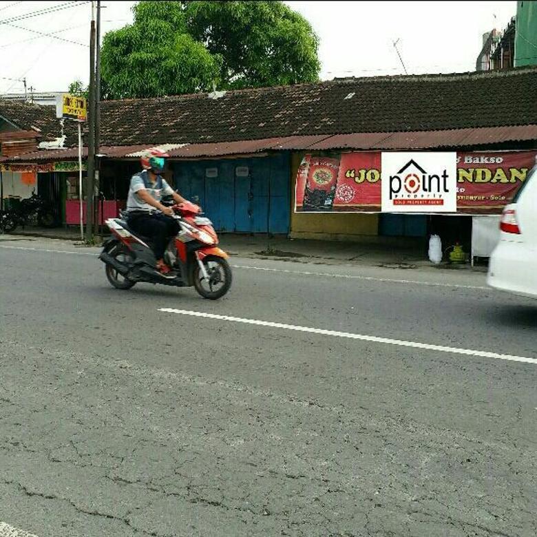 Tanah Komersil 780m2 Jalan Raya Sumber Solo Kota