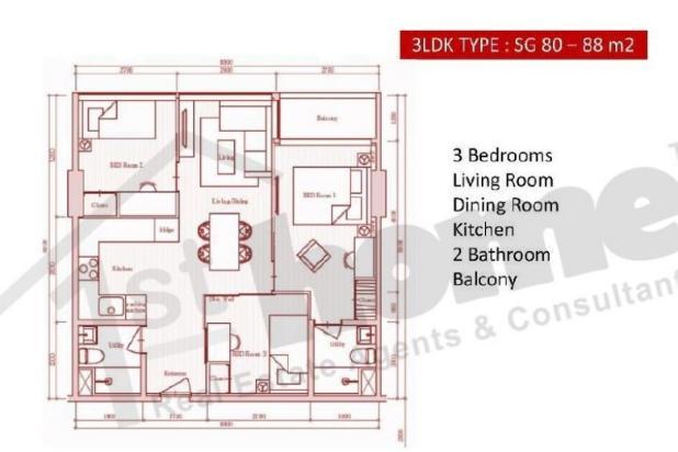 Rp1,51mily Apartemen Dijual