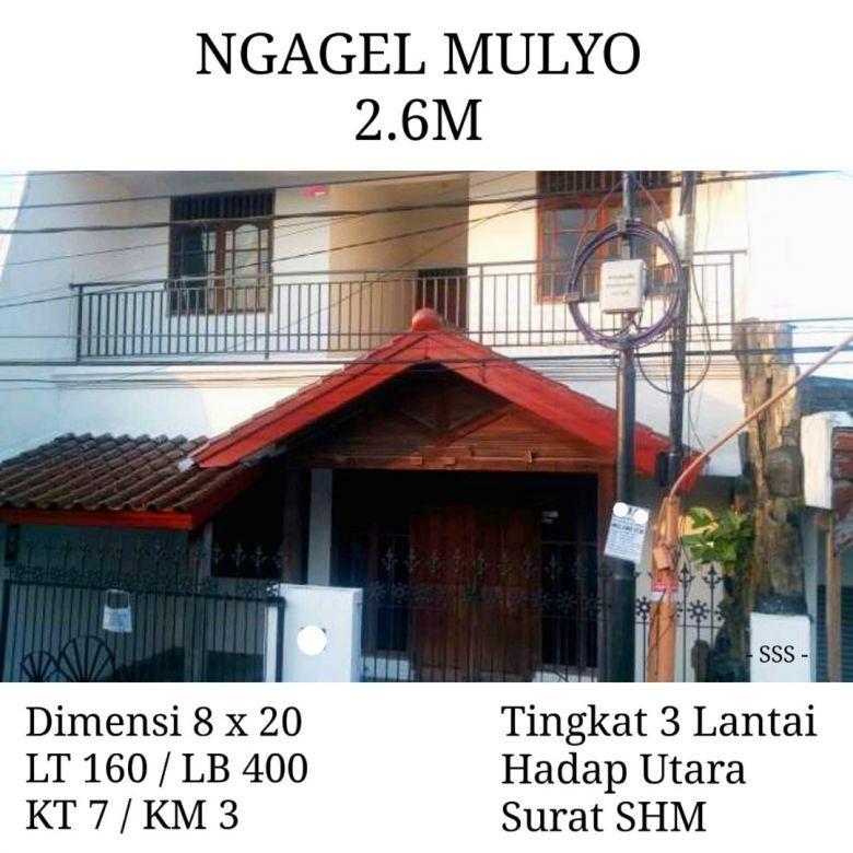 Rumah NGAGEL MULYO 3 Lantai dkt Bilka Marvell City Mall