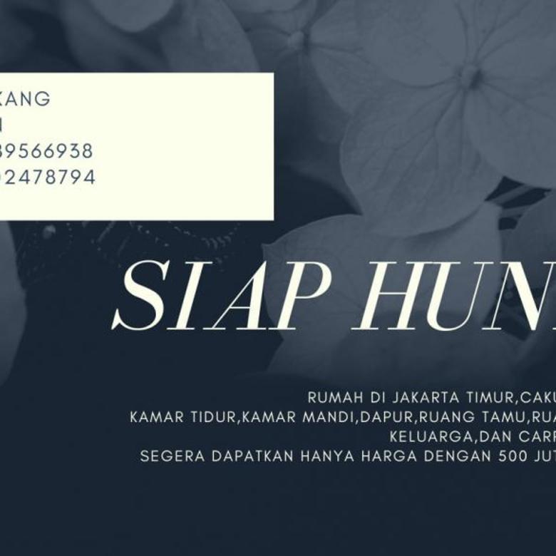 36.Rumah Dijual Daerah Pulogebang Jakarta Timur, Masuk Mobil