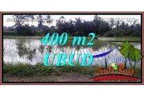 400 m2 with Rice field View in Sentral Ubud