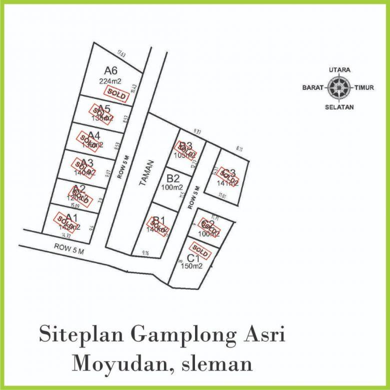 Tanah Perumahan Dekat Studio Alam Gamplong;Include Fasum