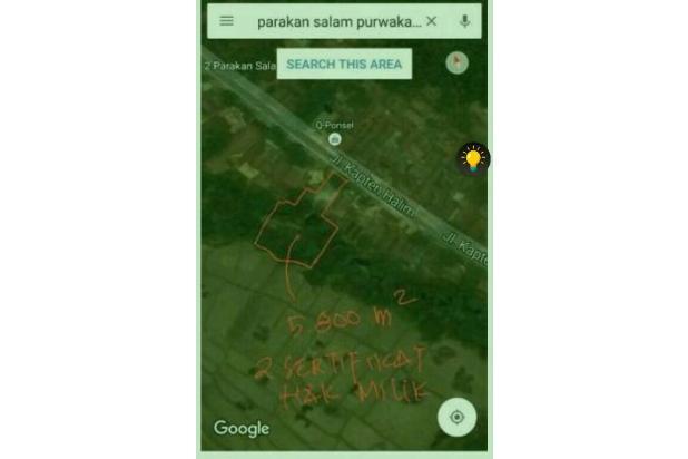 Tanah Investasi di pinggir jl.Raya Holistik 12749925