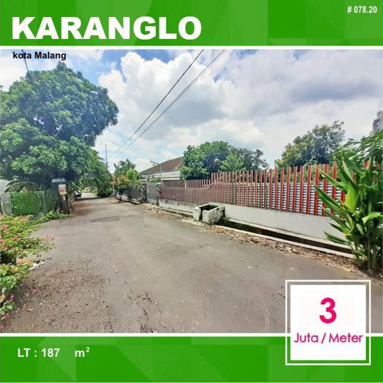 Tanah Kavling Murah Luas 187 di Karanglo Indah Malang _ 078.20