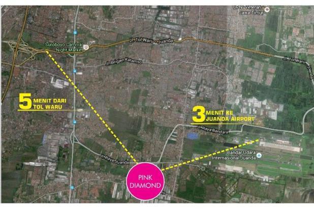 Rumah Minimalis dekat Bandara Juanda Pink Diamond 5868577