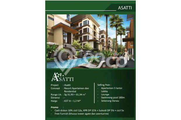 Rumah 3 Lantai dijual per lantai hanya di Asatti Garden House At Vanya Park 18803603