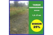 Taman Nanggerang, Tanah Kapling Korting 25 Persen