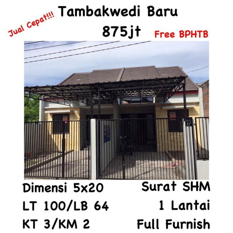 rumah tambak wedi surabaya utara murah full furnish free pajak