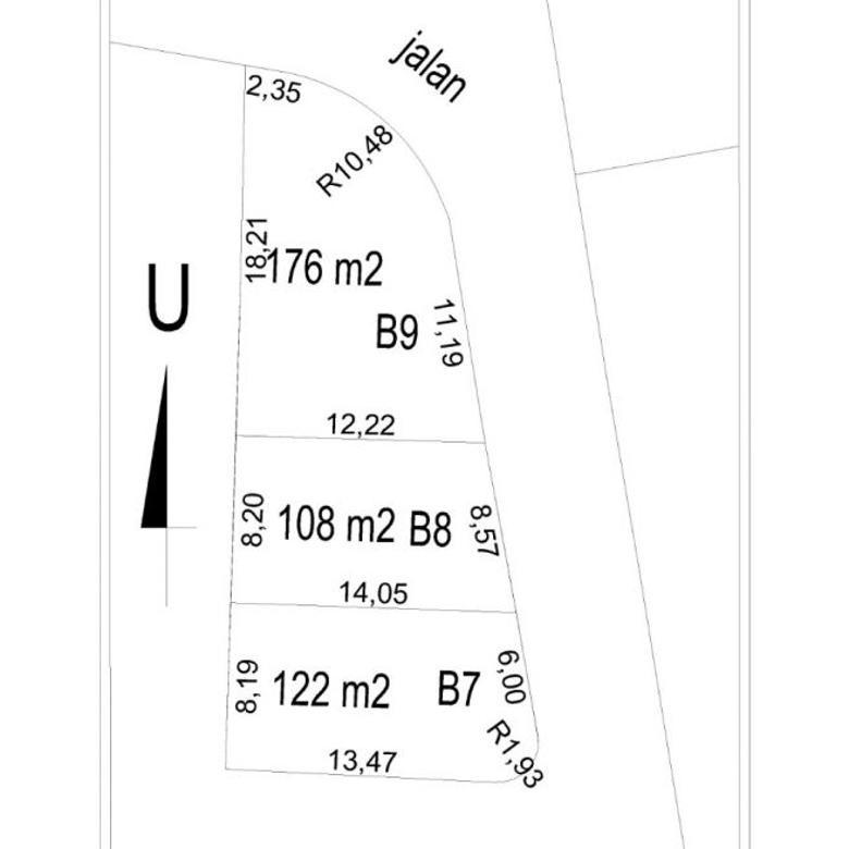 Tanah Kavling Dalam Peruamahan di Pamulang, Luuas 108 m2